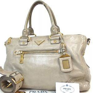 🎉Authentic Prada Two-way shoulder bag Calfskin🎉